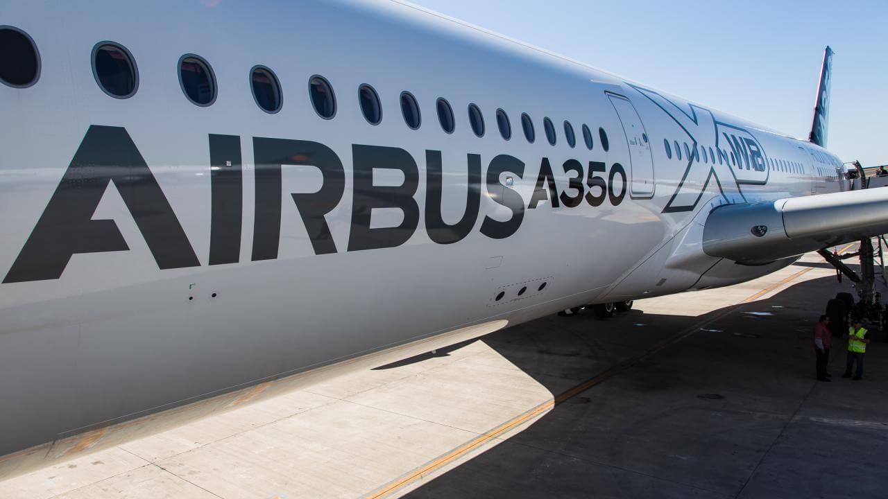 Airbus plane on runway