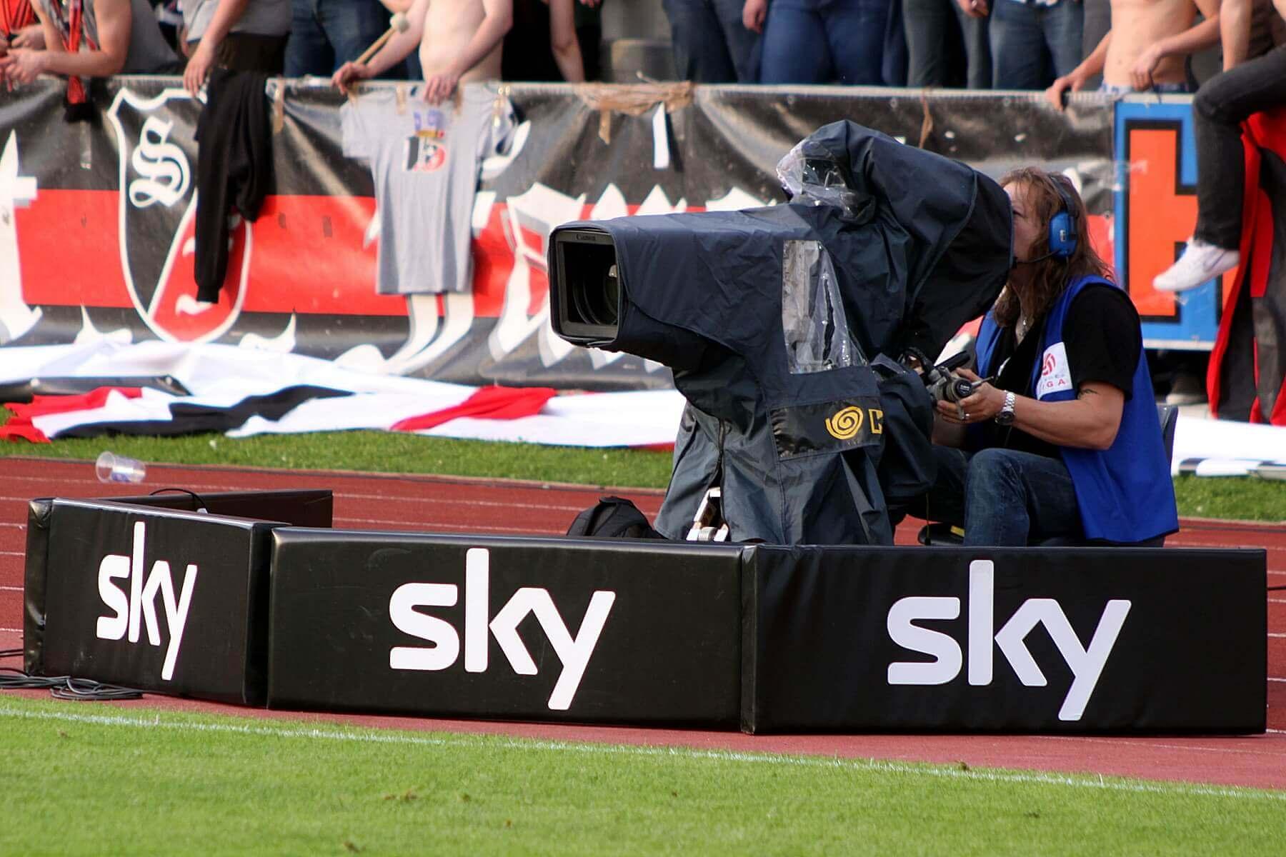 Sky TV camera at sports event